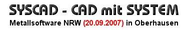 SYSCAD - AutoCAD Applikation für den Metallbau